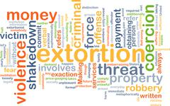Extortion background concept Stock Illustration