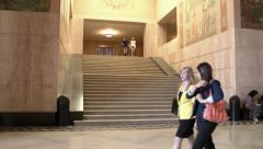 Professional Women Inside Oregon Capitol Building Stock Footage