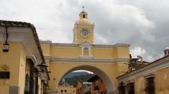 Antigua Guatemala 19 - Arch of Santa Catalina Stock Footage