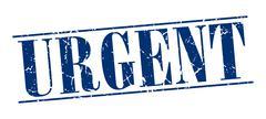 Urgent blue grunge vintage stamp isolated on white background Stock Illustration