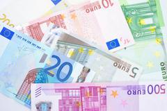 Currency Euro paper note background. Stock Photos