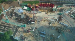Overhead Aerial Timelapse of a Busy Construction Site Arkistovideo