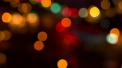 Defocused traffic city lights abstract background. 4K resolution time lapse. Stock Footage