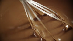 Whisk Hot Melted Chocolate - stock footage