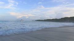 Panorama sunrise on the beach Anse Lazio Stock Footage
