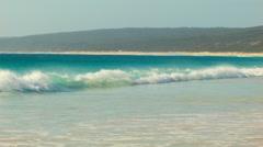 Small Waves Crashing Onto An Australian Beach Stock Footage