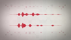 Stock Video Footage of Audio Waveform Stereo Red Lite
