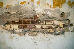 grunge cement crack wall background and texture - stock photo