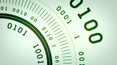 Binary Streams Flowing Green Lite Stock Footage