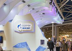 Stock Photo of Booth oil company Gazprom OIL of Russia at the International Trade Fair MIOGE