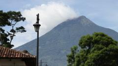 Antigua Guatemala 38 - Volcan Agua / Street Scene - stock footage