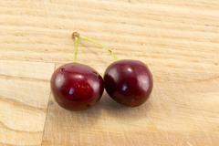 Juicy cherry - stock photo