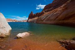 Hole in the Rock Beach Glen Canyon Utah Stock Photos