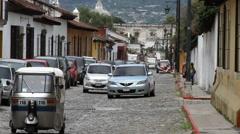 Antigua Guatemala 51 - Street Scene Stock Footage