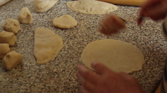 Preparation chebureks Stock Footage