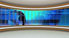 News TV Studio Set 78 - Virtual Green Screen Background Loop Stock Footage