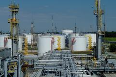 Oil and gas industry ,petrochemical plant - stock photo