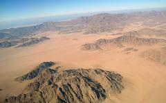 The view from the heights on the Sinai - stock photo