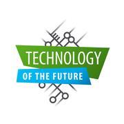 Abstract vector logo chip technology - stock illustration