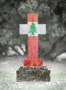 Gravestone in the cemetery - Lebanon - stock photo
