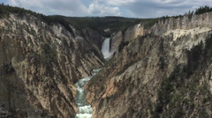 Yellowstone River Grand Canyon Lower Falls 4K Stock Footage