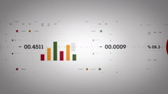 Graphs And Data Tracking Warm Lite Stock Footage