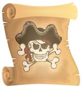 Pirate scroll theme image - eps10 vector illustration. Stock Illustration