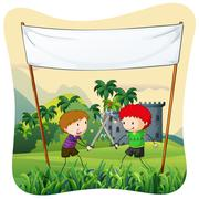 Role play Stock Illustration