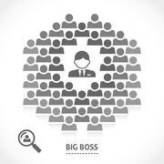 Concept of big boss team building Stock Illustration