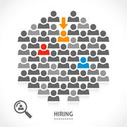 Concept of hiring new vacancy Stock Illustration