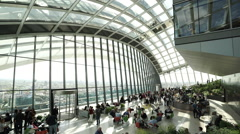 Stock Video Footage of Sky garden at Walkie Talkie building - no property release