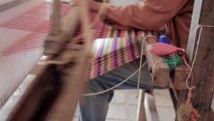 Colorful loom Stock Footage