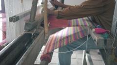 Old mechanical loom Stock Footage
