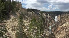 Beautiful Grand Canyon Yellowstone River Lower Falls 4K Stock Footage