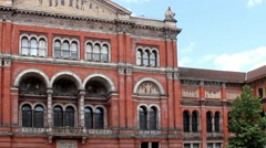 Courtyard of Victoria and Albert Museum (1852).  London, UK. Stock Footage
