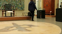 Unidentified tourists and locals visiting Victoria and Albert Museum. London Stock Footage