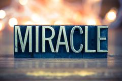 Miracle Concept Metal Letterpress Type Stock Photos