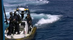 Swedish coast guard in action in the TRITON mission Stock Footage