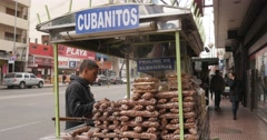 Nutty Caramel, Cubanitos Stand on the street in Córdoba Stock Footage