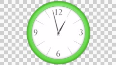 Green Clock Timelapse Stock Footage