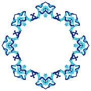 artistic ottoman pattern series eighty eight - stock illustration