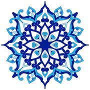 artistic ottoman pattern series eighty six - stock illustration