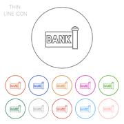 Stock Illustration of Bank signboard