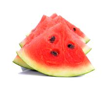 Water melon isolated on the white background Stock Photos