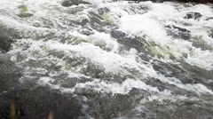Closeup of  rapid waters of  river strong Stock Footage