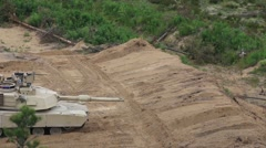 Tanks live fire in Estonia Stock Footage