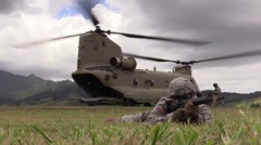 Downed Aircraft Recovery Team (DART) training Stock Footage