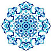 artistic ottoman pattern series eighty seven - stock illustration