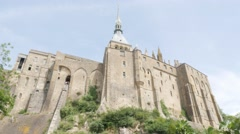 Mont-Saint-Michel island top abbeys Normandy France 4K 3840X2160 UHD - stock footage