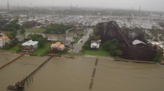 Tropical Storm Bill Texas Coast overflight Stock Footage